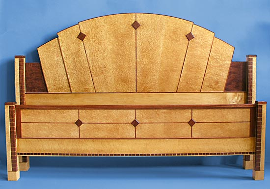 Bubinga Art Deco Bed