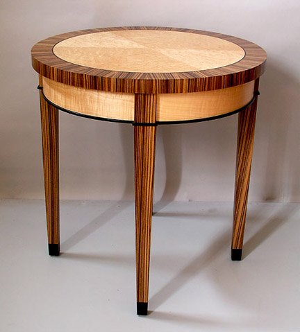 zebrawood game table