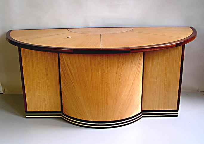 Art Deco Veneered Desk
