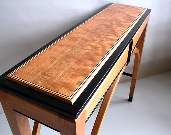 cherry inlay hall table