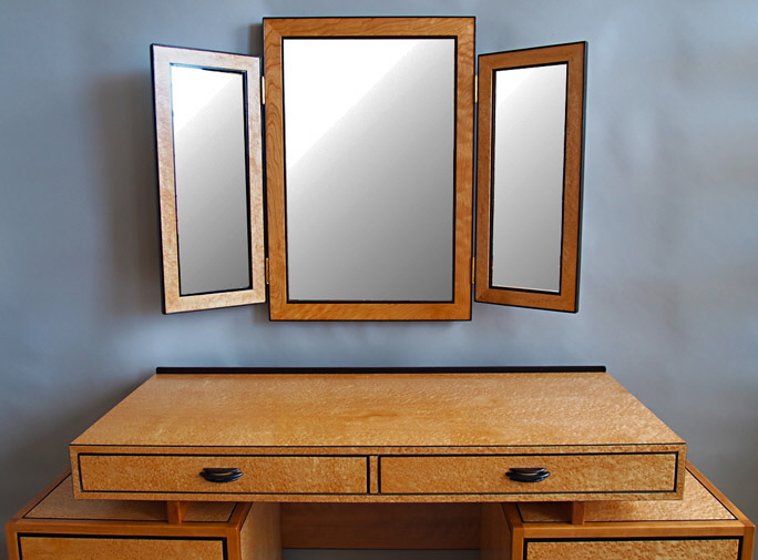 Art Deco folding dressing mirror