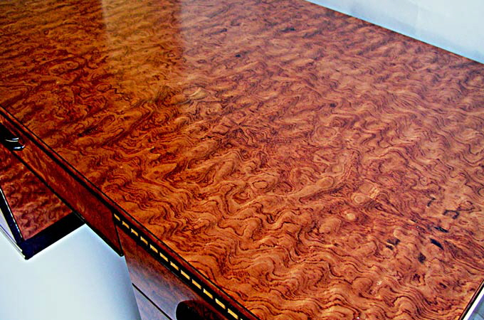 Bubinga art deco desk on art deco in arts design