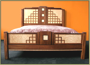 handmade art deco bed