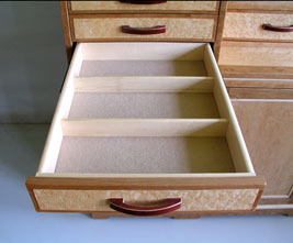 felt lined jewlery drawers