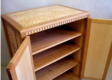quilted maple furniture