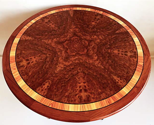 Bookmatched Burl Table