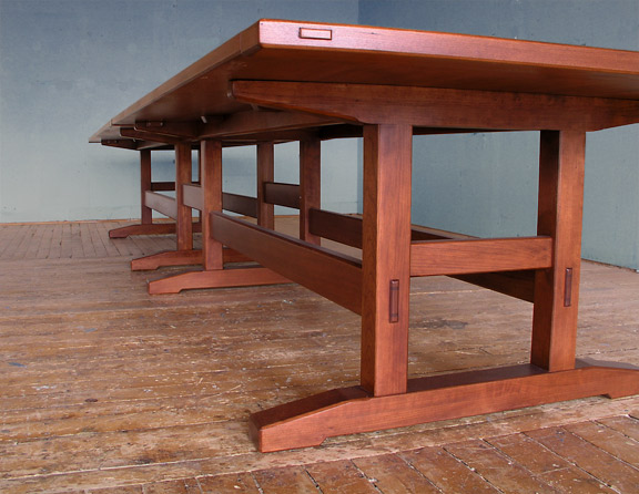 16 foot cherry dining table