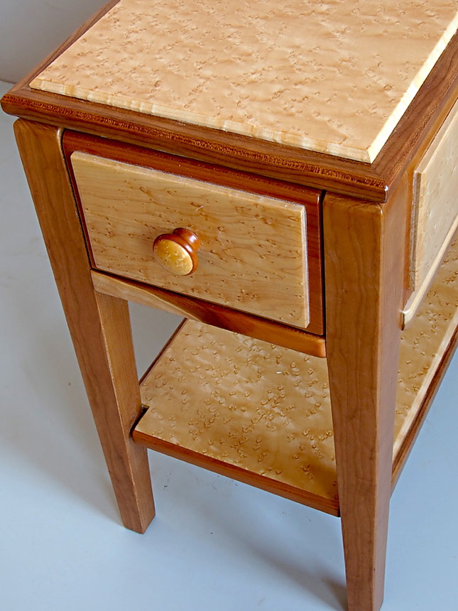 custom narrow end table