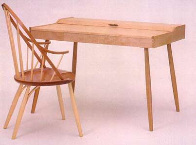 birdeye maple writing desk