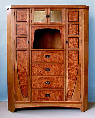 Custom handmade furniture mission arts crafts stickley for Mission style corner hutch