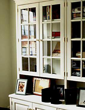 French door bookcase