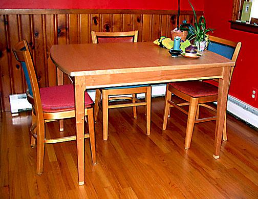 Birdseye Maple Extention Table. Birdseye Maple Kitchen Table