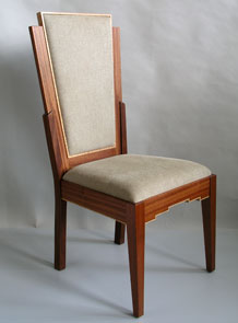 art deco upholstered chair