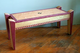 purpleheart bench