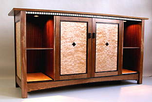 Mission style stereo cabinet