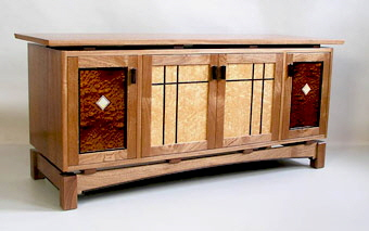 Flat Screen Tv Stand Arts And Crafts Style Stereo Cabinet