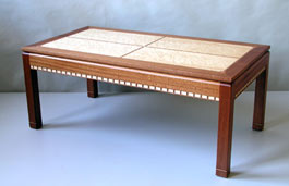 inlayed coffee table