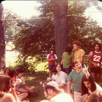 Picnic-behind-G-building--1975