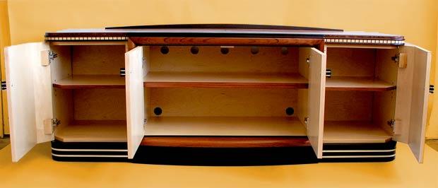 Art Deco Audio Cabinet Storage
