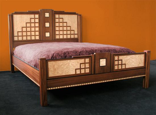 south beach art deco bed. Black Bedroom Furniture Sets. Home Design Ideas