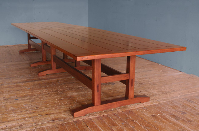16 ft dining table trestle 16 foot 16 Foot Dining Table